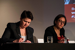 Pictured: Ruth Davidson and Kezia Dugdale<br /> <br /> Party leaders Nicola Sturgeon, Kezia Dugdale, Ruth Davidson, Willie Rennie and Patrick Harvie faced questions from the public at an LGBTI election hustings event arranged by Stonewall Scotland, LGBT youth Scotland, Equaity Network and The Scottish Equality Network at the Royal College of Surgeons of Edinburgh. Edinburgh. 31 March 2016<br /> <br /> Ger Harley   Edinburghelitemedia.co.uk