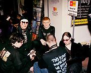 Marilyn Manson fans at a signing in the Virgin Megastore, London, 2001.