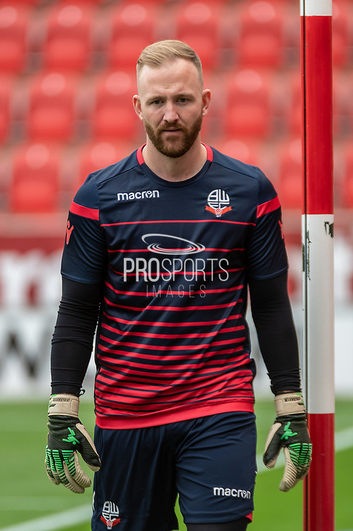 Daniel Iversen of Rotherham United warming up before the EFL Sky Bet League 1 match between Rotherham United and Bolton Wanderers at the AESSEAL New York Stadium, Rotherham, England on 14 September 2019.