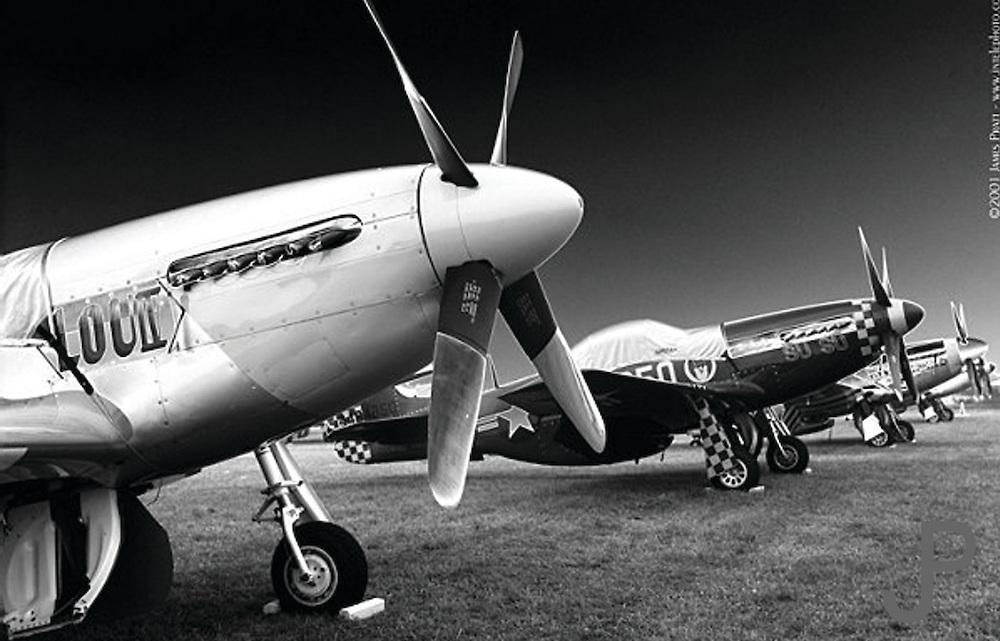 """P51 Mustangs at EAA Airventure """"Oshkosh"""" at sunrise"""
