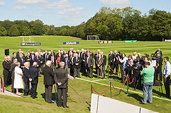 CARDIFF, WALES - Wednesday, September 9, 2009: General Secretary David Collins addresses the media at the opening of the Wales national team training pitch ahead of the FIFA World Cup Qualifying Group 3 match against Russia. (Pic by David Rawcliffe/Propaganda)