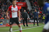 Football - 2017 / 2018 Premier League - Southampton vs. Everton<br /> <br /> Everton Caretaker Manager David Unsworth and Southampton Manager Mauricio Pellegrino during play at St Mary's Stadium Southampton<br /> <br /> COLORSPORT/SHAUN BOGGUST