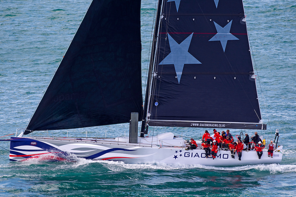 The crew of Giacome in the annual Coastal Classic Yacht Race departing for the Bay of Islands, Auckland, New Zealand, Friday, October 25, 2013.  Credit:SNPA / David Rowland