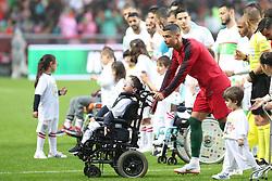 June 7, 2018 - Lisbon, Portugal - Portugal's forward Cristiano Ronaldo before the FIFA World Cup Russia 2018 preparation football match Portugal vs Algeria, at the Luz stadium in Lisbon, Portugal, on June 7, 2018. (Credit Image: © Pedro Fiuza via ZUMA Wire)