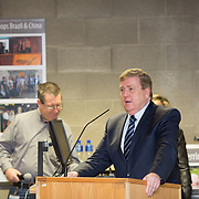 20.01.17<br /> Minister of State for Employment and Small Business, Deputy Pat Breen addressed a seminar for SMEs on The Role of Education in Supporting Small Business at University of Limerick.<br /> <br /> Addressing the seminar was Minister of State for Employment and Small Business, Deputy Pat Breen.<br /> <br />  Jointly hosted by the Kemmy Business school and the faculty of Science and Engineering, the event brought together small and medium enterprises along with representative bodies, Local Enterprise Offices, Chambers of Commerce, Irish Small and Medium Enterprises association (ISME), Enterprise Ireland and the IDA. The aim of the event was to stimulate greater collaboration between third level institutes and SMEs in relation to research, education and business advice. To date, University of Limerick and Limerick Institute of Technology have supported a number of start-ups through the Nexus Innovation Centre and LIT's Enterprise Centres while academic staff have provided expert advice to local companies. Picture: Alan Place