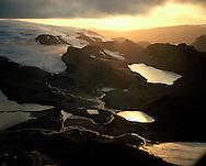 Þórisjökull séð til vesturs Þórisdalur / Thorisjokull glacier and Thorisdalur. Highlands of Iceland.