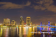 63412-01305 City Skyline and  St. Johns River, Jacksonville, FL