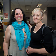 31.05.2018.          <br /> LEO Limerick welcomed Sean Gallagher to Limerick to talk about his new book 'Secrets to Success- Inspiring Stories from Leading Entrepreneurs'.<br /> Pictured at the event in Thomond Park were, Joanne MacMillan, Dore Concepts and Kathy Tiernan, 90 Degrees. Picture: Alan Place
