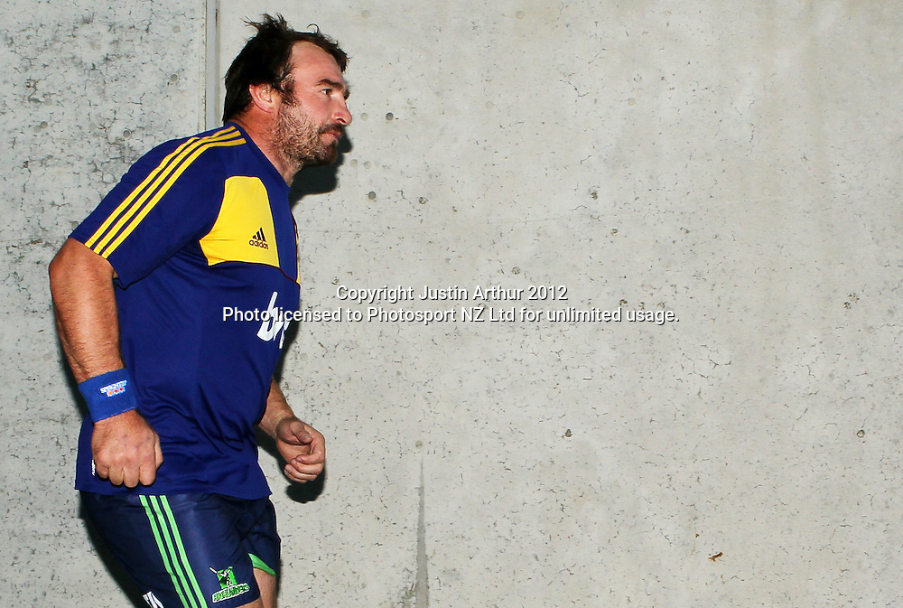 Highlanders' Andrew Hore. during the 2012 Super Rugby season, Hurricanes v Highlanders at Westpac Stadium, Wellington, New Zealand on Saturday 17 March 2012. Photo: Justin Arthur / Photosport.co.nz