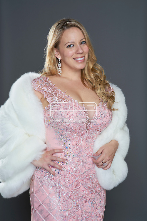 February 22, 2016. Las Vegas, Nevada.  The 22nd Reel Awards and Tribute Artist Convention in Las Vegas. Celebrity lookalikes from all over the world gathered at the Golden Nugget Hotel for the annual event. Pictured is  Mariah Carey lookalike, Jessica Castro.<br /> Copyright John Chapple / www.JohnChapple.com /