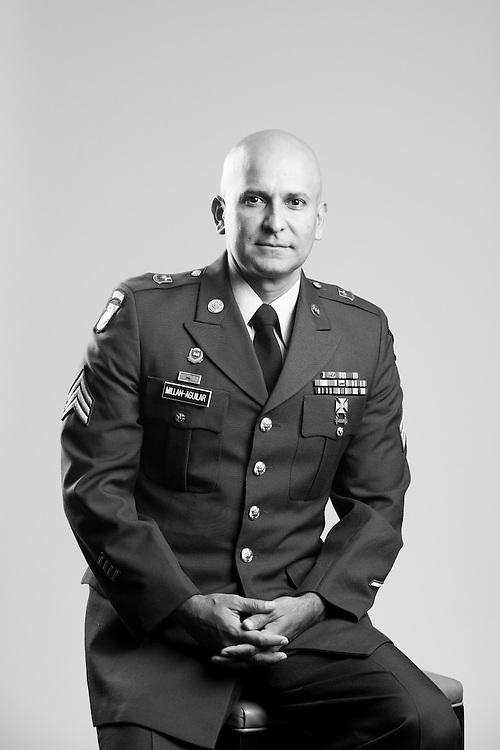 Cesar A. Millan-Aguilar<br /> Army<br /> E-5<br /> Geospatial Engineer<br /> Aug. 8, 2004 - Feb. 29, 2009<br /> OIF, OEF<br /> <br /> Veterans Portrait Project<br /> Alpharetta, GA