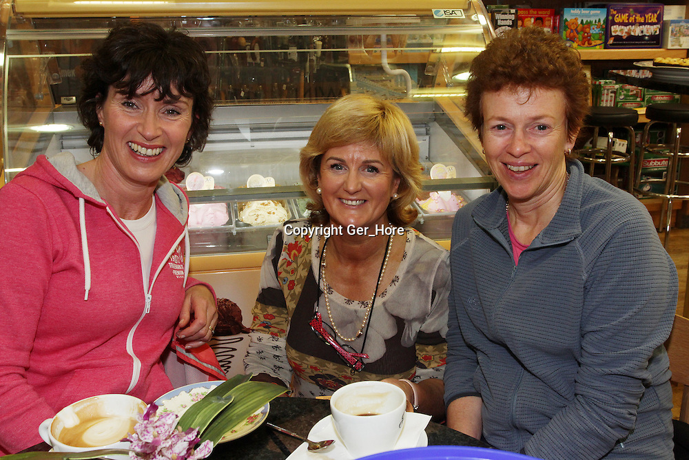 At a coffee morning in Boggan's Service Station on Thursday morning in aid of Wexford Hospice Homecare were Catrina Eviston, Nora Boggan and Eithne Fitzpatrick