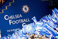 Illustration Supporters Chelsea - 11.03.2015 - Chelsea / Paris Saint Germain - 1/8Finale Champions League<br />Photo : Johnny Fidelin / Icon Sport
