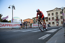 Suzanna Zorzi (Lotto Soudal) at Giro Rosa 2016 - Prologue. A 2 km individual time trial in Gaiarine, Italy on July 1st 2016.