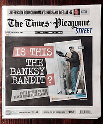 25 February 2014. New Orleans, Louisiana.<br /> My image makes front page Times Picayune street edition........<br /> Photo; Charlie Varley/varleypix.com