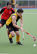 Thomas Annea in action for Capital during the National Under 21 Hockey Tournament - Day 1, 7 May 2011, Alexander McMillan Hockey Centre Dunedin, New Zealand. Photo: Richard Hood/photosport.co.nz