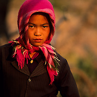 Young girl at market, Muang Singh, Laos