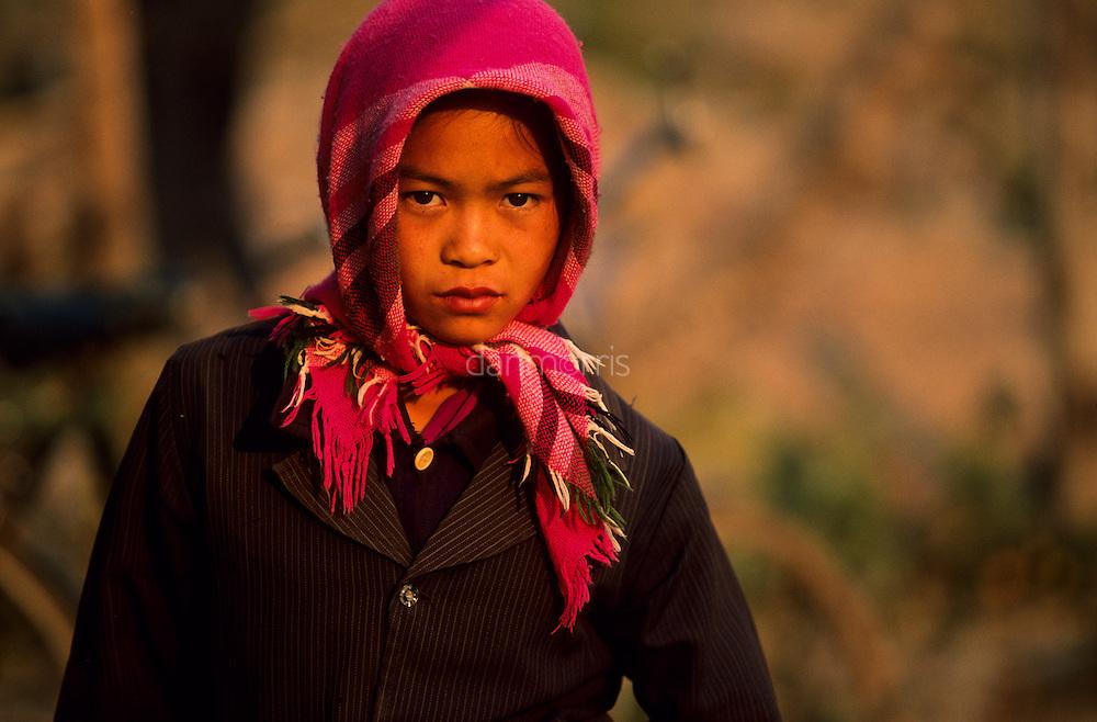 Young girl at market, Muang Singh, Laos
