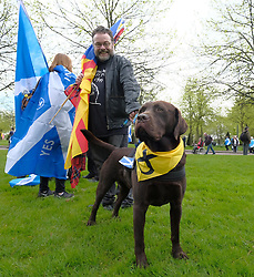 All Under One Banner March For Independence, Glasgow, Saturday 5th May 2018<br /> <br /> Thousands of people joined a march in support of Scottish Independence today in Glasgow.<br /> <br /> There were flags of many countries represented.<br /> <br /> Alex Todd | EEm
