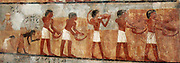 Paintings from the tomb of Unsu, Ancient Egypt