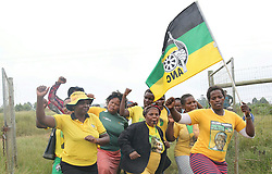 Bizano. Eastern Cape. 04.04.18. ANC supporters in the homestead of the late ANC struggle stalwart Winnie Madikizela-Mandela in Mbhongweni, Bizana. Picture Motswari Mofokeng/ African News Agency (ANA)
