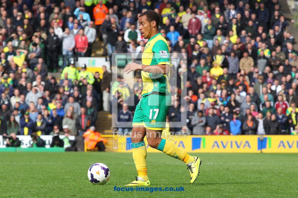 Elliott Bennett of Norwich in action during the Barclays Premier League match at Carrow Road, Norwich<br /> Picture by Paul Chesterton/Focus Images Ltd +44 7904 640267<br /> 11/05/2014