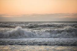 ocean waves at dawn in East Hampton, NY