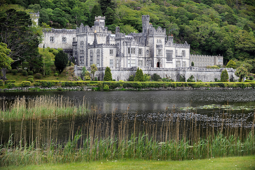 Kylemore Abbey in Connemara, Co. Galway, Ireland.