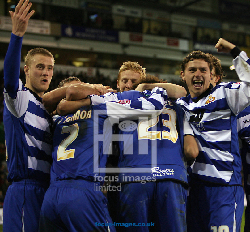 Sheffield - Tuesday January 27th, 2009: James O'Connor of Doncaster Rovers  Celebrating with his team mates after a well deserved goal early in the second half during the Coca Cola Championship match at Bramall Lane, Sheffield. (Pic by Darren Walker/Focus