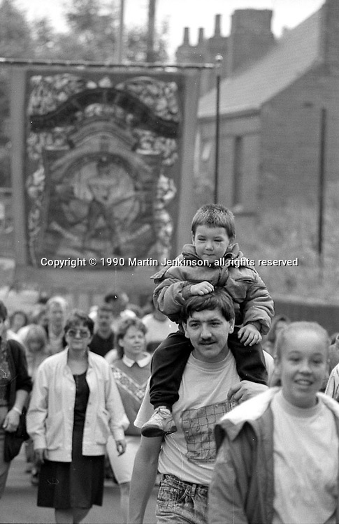 Shafton Workshops Branch banner. 1990 Yorkshire Miner's Gala. Rotherham.