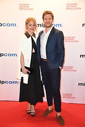 Juliet Rylance, JAmes Norton poses as arriving for the opening ceremony of the MIPCOM in Cannes - Marche international des contenus audiovisuels du 16-19 Octobre 2017, Palais des Festivals, Cannes, France.<br />