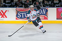 KELOWNA, CANADA - JANUARY 23: Chance Braid #22 of Kelowna Rockets skates against the Everett Silvertips on January 23, 2015 at Prospera Place in Kelowna, British Columbia, Canada.  (Photo by Marissa Baecker/Shoot the Breeze)  *** Local Caption *** Chance Braid;