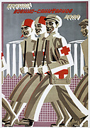 Military training is Important', 1929. Soviet propaganda poster by Vladimir Feodorvich Shtranikh.  Russia USSR  Communism Communist