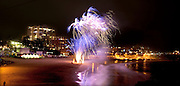 Pictures taken of Fireworks on Australia Day from the Point overlooking South Cronulla beach.