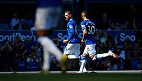 Football - 2018 / 2019 Premier League - Everton vs Manchester United<br /> <br /> at Goodison ParkFootball - 2018 / 2019 Premier League - Everton vs Manchester United<br /> <br /> Gylfi Sigurdsson of Everton celebrates scoring at Goodison Park