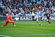 Manchester City Women forward Caroline Weir (19) is offside during the FA Women's Super League match between Manchester City Women and BIrmingham City Women at the Sport City Academy Stadium, Manchester, United Kingdom on 12 October 2019.