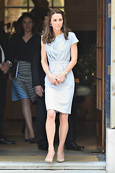 © Licensed to London News Pictures. 04/05/2016. London, UK. Catherine, Duchess of Cambridge attends Anna Freud Centre lunch reception in support of the children's mental health charity's new centre of excellence.   Photo credit: Ray Tang/LNP