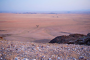 Desert expanse Namib desert plains Brandberg Mountain, Damaraland, Namibia