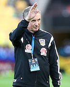 Ernie Merrick during the Round 22 A-League football match - Wellington Phoenix V Adelaide United at Westpac Stadium, Wellington. Saturday 5th March 2016. Copyright Photo.: Grant Down / www.photosport.nz