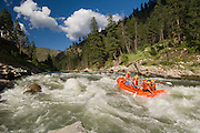 Idaho. South Fork Payette River. Rafters enjoying some white water. MR