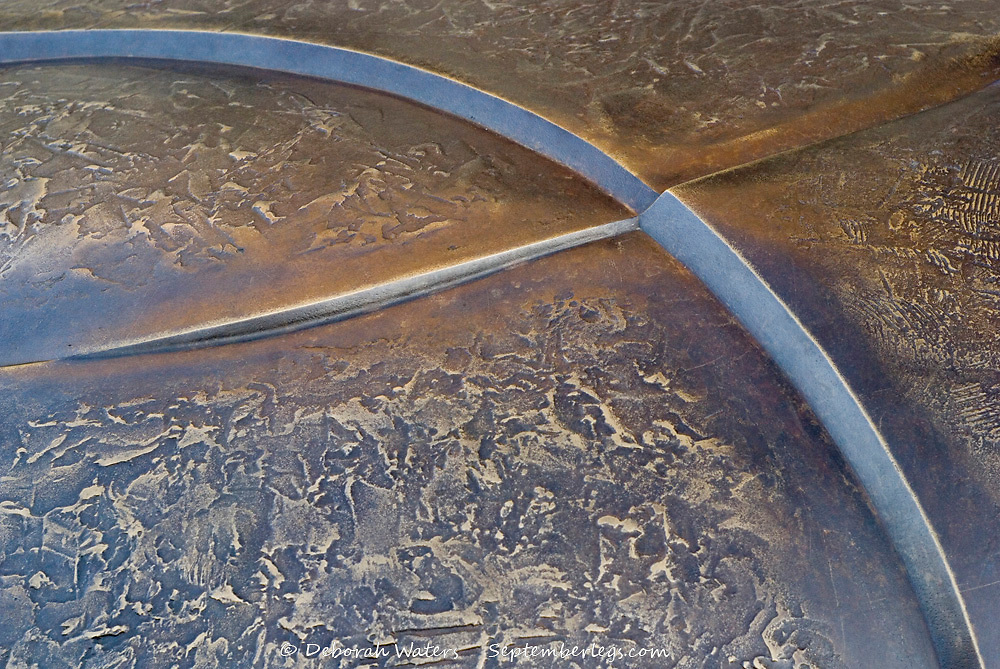 Tudor Square, Sheffield, UK, 2013: close up on bronze sculptural seating by Broadbent