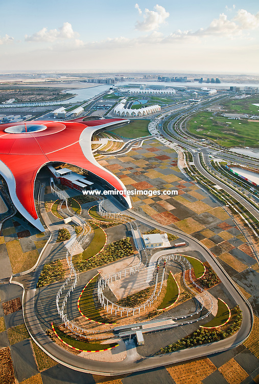 Ferrari World Abu Dhabi aerial shot