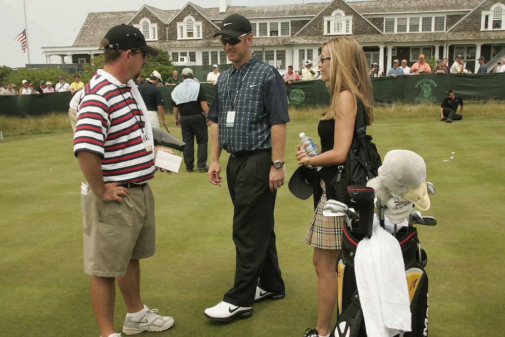 David Duval and wife Susan.2004 U.S. Open Championship.Shinnecock Hills CC.Southampton, NY.Practice Round.Wednesday, June 16, 2004..photograph by Darren Carroll