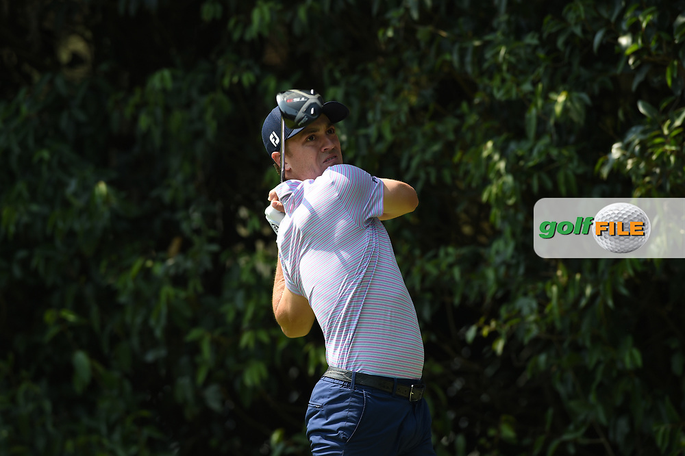 Justin Thomas (USA) on the 2nd tee during Rd4 of the World Golf Championships, Mexico, Club De Golf Chapultepec, Mexico City, Mexico. 2/23/2020.<br /> Picture: Golffile | Ken Murray<br /> <br /> <br /> All photo usage must carry mandatory copyright credit (© Golffile | Ken Murray)