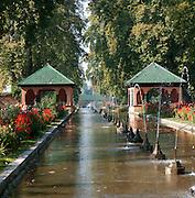 Kashmir Srinagar -Mughal gardens - Nishat Bagh (the garden of pleasure) built by Asif Jha in 1636