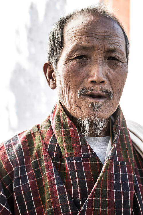 A local at a Festival in Trongsa, Bhutan