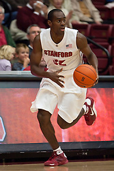 November 6, 2009; Stanford, CA, USA;  Stanford Cardinal guard Da'Veed Dildy (32) during the first half of an exhibition game against the Sonoma State Seawolves at Maples Pavilion.