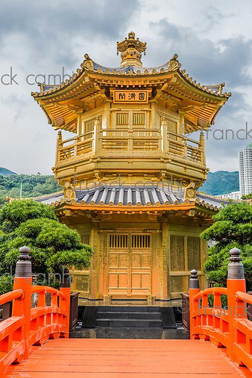 Pavilion of Absolute Perfection at Chi Lin Nunnery Kowloon in Hong Kong