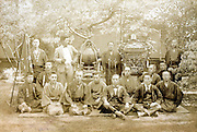 company workers group portrait vintage Japan
