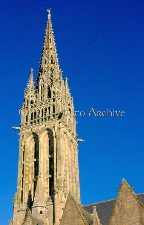 France, Brittany.  La Guerche-de-Bretagne Church.